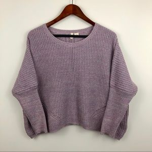 Anthropologie Moth Viedma Ribbed Lilac Sweater
